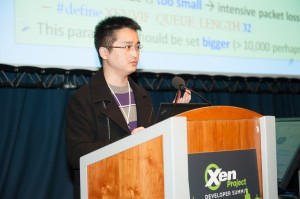 Luwei Cheng talks about his research on TCP performance in VMs