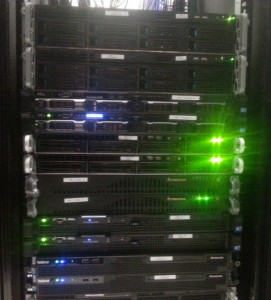 This picture shows a section of our test lab, which is co-located at Earthlink