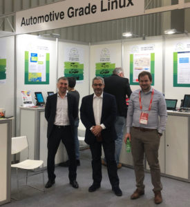 The EPAM team at the AGL booth